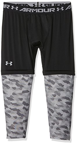 Under Armour pantaloni da basket SC30 3/4 Leggings, Uomo, Basketball Hose Sc30 3/4 Leggings, nero, M