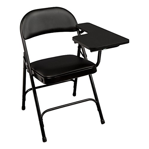 School Outfitters NOR-SRO593-LTA-VBK-SO Norwood Commercial Furniture 6600 Series Vinyl Padded Folding Chair with Tablet Arm (Pack of 2) (Arm Chair Folding)