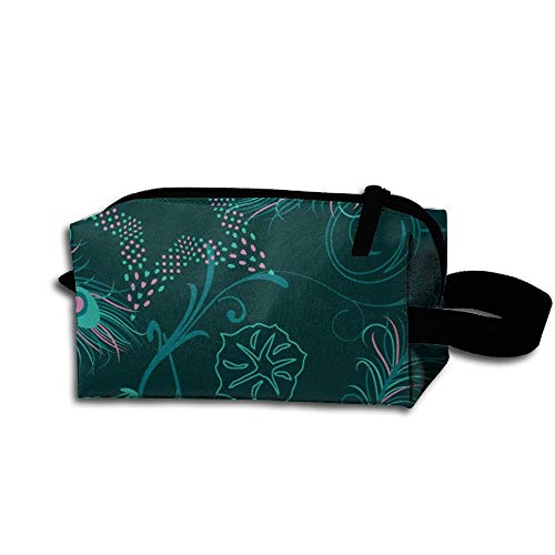 Peacock Tail Women's Tolietry Bag Cosmetic Travel Case Accessories Organizer -