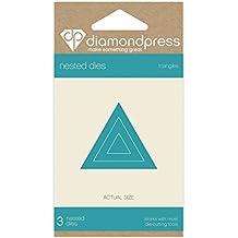 """Diamante Triángulo de prensa """""""" troqueles anidados, color plateado"""
