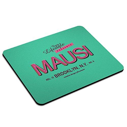 Mousepad mit Namen Mausi personalisiert - Motiv Retro 5 - Namensmousepad, personalisiertes Mauspad, Gaming-Pad, Maus-Unterlage, Mausmatte -