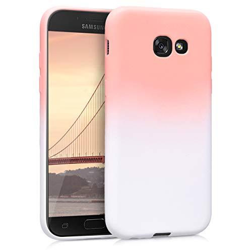 kwmobile Funda para Samsung Galaxy A5 (2017) - Carcasa de [TPU] para móvil y diseño Bicolor en [Rosa Claro/Blanco]