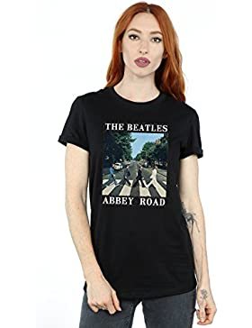 The Beatles Mujer Abbey Road Camiseta del Novio Fit