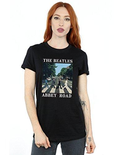 The Beatles Damen Abbey Road Boyfriend Fit T-Shirt Medium Schwarz (Schwarz T-shirt Abbey Road)