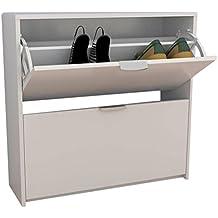 Meka-Block K-9466B - Zapatero de 2 compartimentos para 12 pares de zapatos, 76 cm de ancho