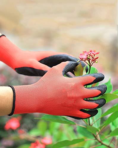 Preisvergleich Produktbild YXMxxm Gartenhandschuhe für Frauen und Männer,  Latex-gummierte Garten- und Arbeitshandschuhe,  Beste Gartengeräte für Frauen und Männer (2 Paare)