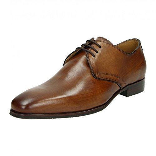 café Moda Homme Chaussure Lisse Cuir Chaussures BUSINESS à Lacet fauve