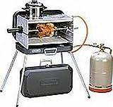 KOFFER GRILL - EDELSTAHL Gasbrenner mit 2 KOCHSTELLEN - 50 mbar Version - BRENNER und KOCHPLATTEN aus EDELSTAHL - SEITENTEILE aus ALUMINIUM- 80 cm Gasschlauch - STAHLKOFFER - Vertrieb durch Holly ® Produkte - STABIELO -