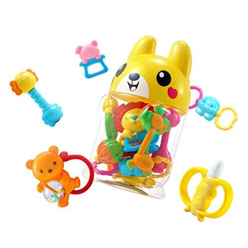 WYNZYSGWJ Baby-Spielzeug, Fühlen Sie Sich Frei Zu Kochen Baby Kinderzähne Zahnfleisch Molaren Beißen Musik 0-6 Monate 10 Packungen Hohe Temperatur 120 °