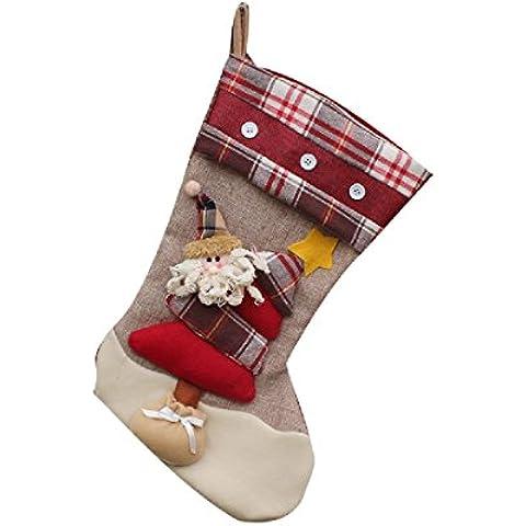 Calcetines de Navidad Regalo de Navidad Decoración de embalaje Ornamento de árbol Suministros Bolsas-Santa Claus