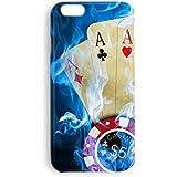 Funda carcasa Poker cartas para Samsung Galaxy J1 J3 J5 J7 S3 S4 S5 S6 Edge+ S7 S8 S8+ Note 2 3 4 5 8 A3 A5 A7 2016 plástico rígido