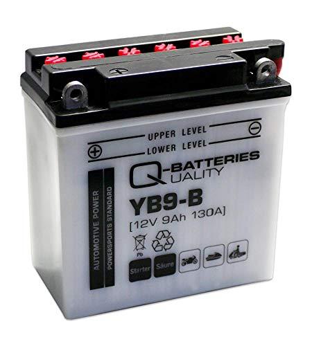 Q-Batteries Motorrad-Batterie YB9-B 50914 12V 9Ah 130A