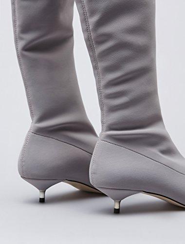 Trova Damen Schenkelhohe Show-boots Grau (grigio)