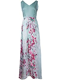 Lavand - Vestido largo estampado azul pálido y rosa