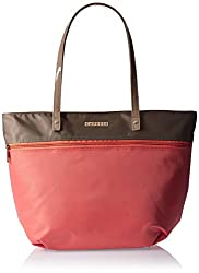 Caprese Susan Women's Tote Bag (Coral and Taupe)