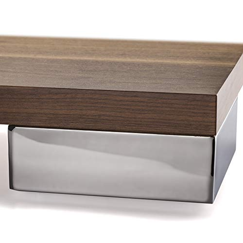 Möbelfuß Juliett Chrom 150 x 150 x 56,3 mm Schrankfuß Polsterfuß von SO-TECH -
