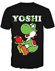 SUPER MARIO BROS - T-Shirt Yoshi Black (S)
