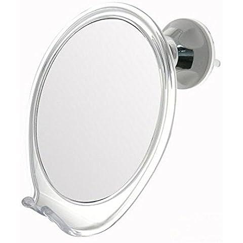 2X Aumento Espejo de ducha libre de la niebla con la rotación, bloqueando la succión; Con construido en el titular de la maquinilla de afeitar | Brazo ajustable para fácil posicionamiento | ¡El mejor espejo personal para afeitarse que usted comprará siempre! Espejo de viaje ideal