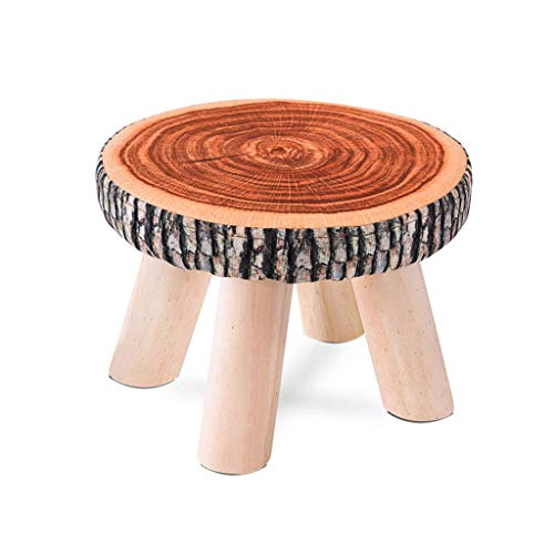 Willsego sgabello moda in legno massello sgabello, sgabello quadrato in tessuto divano sgabello sedia sgabello sgabello da cucina per uso domestico piccola panca 28 * 20cm (colore: a) (colore : c)