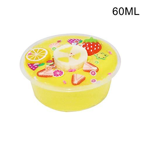 nieliangw0q Dekompressionsspielzeug , 60 / 100ml DIY Obst Zitrone Chips Schlamm Ton Plastilin Stressabbau Kinder Spielzeug Geschenk 60ml -