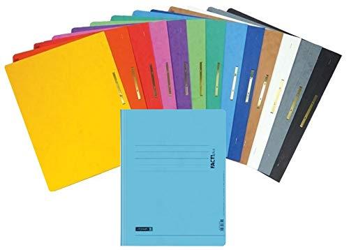 Brunnen Schnellhefter Pappe extrastark - GROßPACK bunt - 14 Stück bzw. Farben im Pack - für Schule, Job, Büro und zu Hause