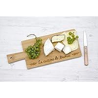 Planche à découper personnalisable gravée avec votre texte, planche de service ou planche à fromage en bois (bambou). Cadeau personnalisable.
