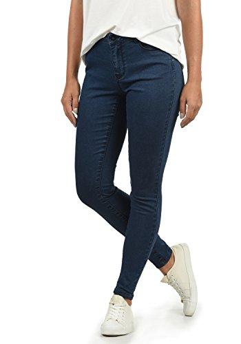 VERO MODA Jenna Damen Jeans Denim Hose Strech Mid-Rise Skinny Fit, Größe:L/ L30, Farbe:Dark Blue