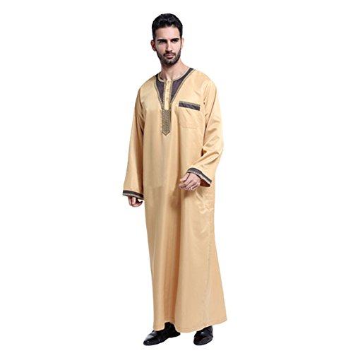 Kostüm Dishdasha (Hzjundasi Herren Arabien Muslim Kostüme Kleidungsstück Thobe Robe)