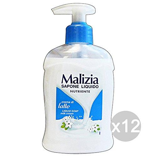 Scheda dettagliata Set 12 MALIZIA Sapone Liquido Latte Nuovo 300 Ml Igiene E Pulizia Personale