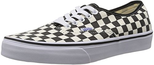 Vans U Authentic, Scarpe da Ginnastica Donna, Noir (Black/White Checker), 7 UK
