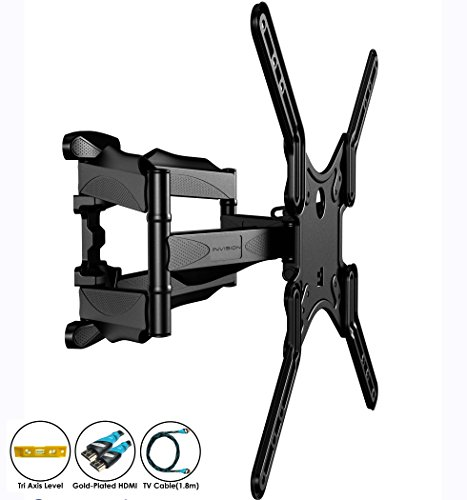 invisionr-double-arm-tv-wall-bracket-mount-for-24-55-inch-led-lcd-plasma-curved-screens-tilt-swivel-