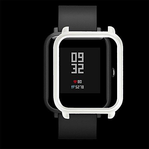 TianranRT Huami Mi Umzug Jugend Mode PC Fall Abdeckung Schützen Schale Für Xiaomi Huami Amazfit Bip Jugend Watch (Weiß)