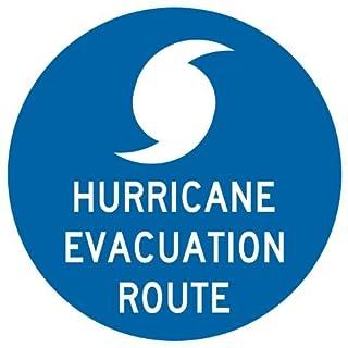 AmyyEden Metallschild Evakuation Route 30,5 x 30,5 cm mit Englisch, Blau