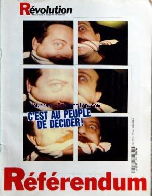 REVOLUTION [No 636] du 07/05/1992 - VIVE L'HISTOIRE PAR PORNON - CHAMBRES - F. SALVAING - D. BLEITRACH - E. PIEILLER - J.D. PHILIPPE - GUY HERMIER - PAASTRICHT PAR JACQUARD - L'ENJEU EMPLOI PAR ALEZARD - FRANCIS DARD - RUSSIE PAR ROSE - THEATRE - S. GRESH - LIVRES - M. ROZENFARB - J.CL. LEBRUN - CINEMA - CANNES PAR MARTIN - LE SOUFFLE ETUDIANT - VALADEAU - DOUR - MEIER PAR OLIVA par Collectif