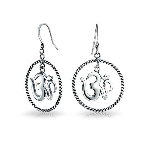 Bling Jewelry Stile antico simbolo Aum Sterling Silver Om pendenti orecchini