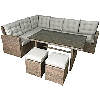 Amazon.de: Bomey Rattan Lounge Set I Gartenmöbel Set Manhattan 2 ...