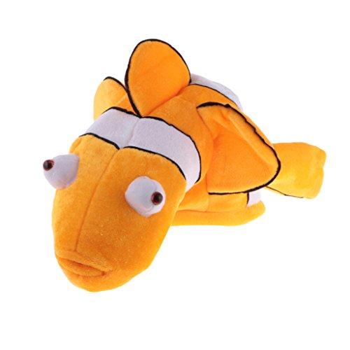 FLAMEER Krake Hummer Krabbe Clownfish Kostüm Kinder Erwachsene Hut Maske Cap Phantasie Party Geschenk - Gelb Clownfish, 53 cm (Hummer Kostüm Kinder)