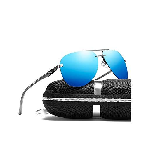 Vikimen Sportbrillen, Angeln Golfbrille,Men Polarisiert Sunglasses Brand Design Driving Sunglasses Men Goggles Aluminum Leg Mirror Lens Sunglasses For Men/Women Package A Gray Pink