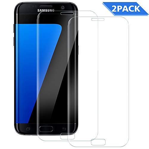 WUXIAN Screen Protector for Samsung Galaxy S7 [2 Pack] HD Clear for Samsung Galaxy S7 Tempered Glass Screen Protector [Full Coverage][Ultra Strong] [Easy Installation]