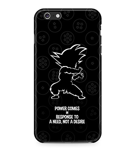 Dragon Ball Goku Famous Quote Hard Plastic Snap On Back Case Cover For iPhone 6 Plus / 6s Plus Custodia