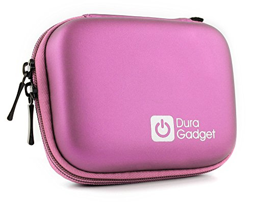 DURAGADGET Hartschalen-Case | Smartwatch-Etui | Hülle in Rosa mit Karabinerhaken für Toobur, Wesoo und Mpow Bluetooth Fitness-Armband und Vigorun | HolyHigh | Yuanguo YG3 Plus Activity Tracker