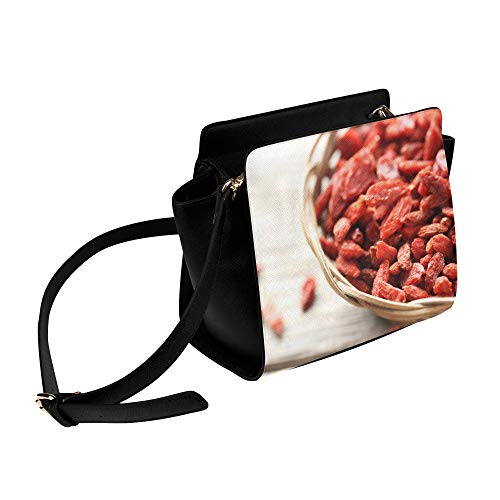 Chinese Red Goji Berries Umhängetasche Umhängetaschen Reisetaschen Seesack Umhängetaschen Gepäck Organizer Für Lady Girls Womens Work Shopping Outdoor -
