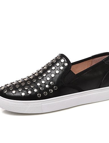 ZQ gyht Scarpe Donna-Mocassini-Tempo libero / Casual-Comoda / Punta arrotondata-Piatto-Di pelle-Nero , black-us8 / eu39 / uk6 / cn39 , black-us8 / eu39 / uk6 / cn39 black-us5.5 / eu36 / uk3.5 / cn35