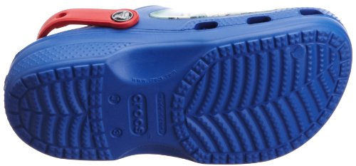 Crocs, Superman Clog C Kids, Zoccoli e sabot, Unisex - bambino Blu (Sea Blue/Red)