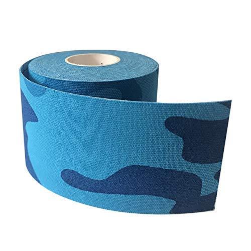 LLT Sport Injury Wrap Tape-Stretch-Tape 5Cm * 5M Logy Band Sport Verringerung Der Schmerzen Verletzungen Erholung, Sportliche Band Gym Fitness Tennis Running Knee Muscle Wrap-Schutz,Camo Blau,a -