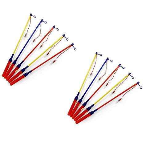 Preisvergleich Produktbild p:os 10 x Laternenstäbe ca. 49 cm elektrisch - perfekt für St. Martins-Umzug Lampion- und Lichterfest Kinder-Geburtstag