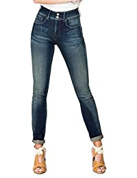 Salsa - Jeans taille haute délavage premium - Secret Push In - Femme