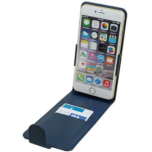 Vertikal Flip Case Klapp Etui Hülle für Lenovo Z5s Z5 S5 Pro GT 5,3-5,8 Zoll Smartphone Handytasche Blau
