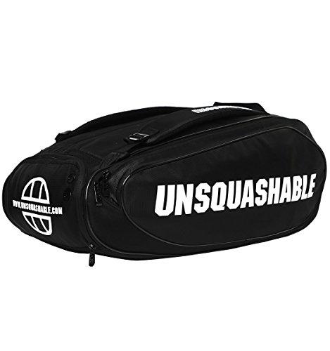 Unsquashable Unisex Tour Tec Pro Deluxe Schläger Tasche, Schwarz, M