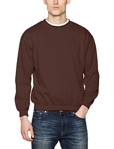 James & Nicholson Herren Sweatshirt Round - Sweat - Heavy, Gr. XX-Large, Braun (Braun Sweatshirts Für Männer)